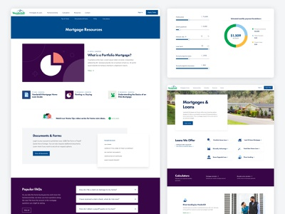 Mortgage Website ux ui financial chart finance mortgage