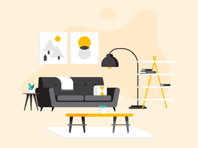 Living room transitions home knoxville gif lamp furniture couch interior design family room living room animation illustration
