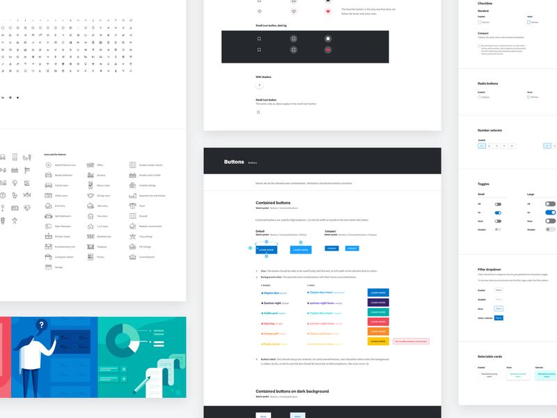 Design System Preview ui illustration design system