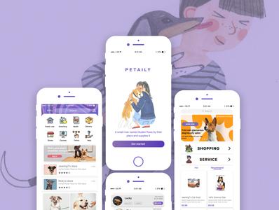 PETAILY_Pet App Concept app ui pet app