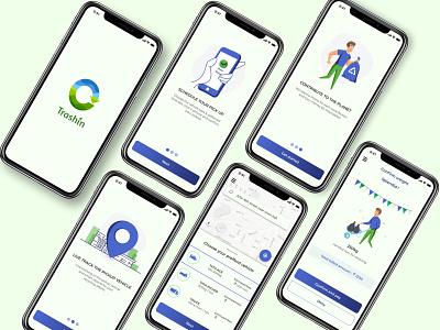 Trashin - App design debut ui design ios ui uiuxdesign typography app ux design