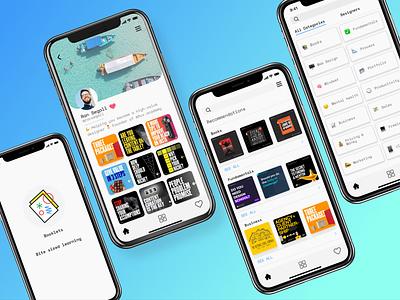 Booklets app mobile ui reading app mobile app user interface design visual design ui clean ui uiuxdesign ui design design