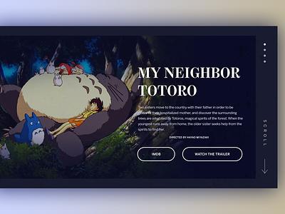 Studio Ghibli Info Design film movie ui ui digital web design