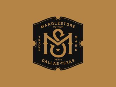 MandleStore branding logo candle monogram shield vintage apothecary dallas texas trademark
