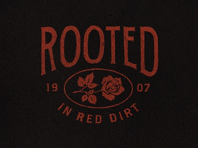 Rooted apparel rooted ok oklahoma 1907 vintage distressed merch flower floral red dirt country