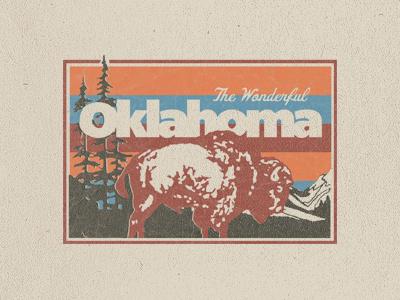 Wonderful OK oklahoma ok apparel merch wonderful buffalo bison vintage