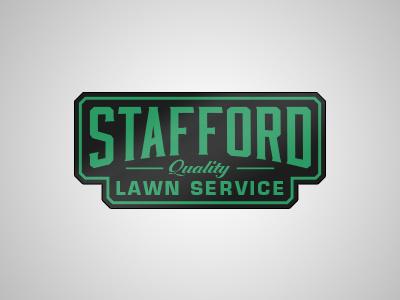 Stafford lawncare landscaping quality branding logo identity green eco