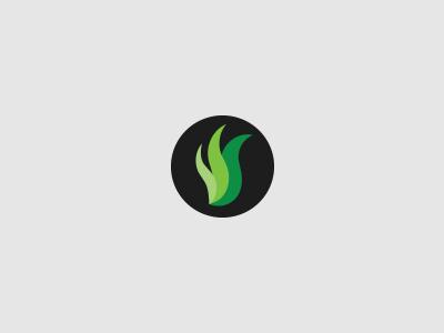 Grass lawncare landscaping quality branding logo identity green eco s