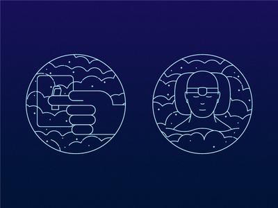 Reality Checks illustration icons dreams lucid dreams