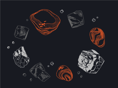 Distilled Crystals drawing crystals