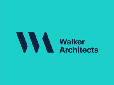 Walker Architects identity branding logotype logo