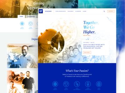 UF Foundation university of florida ux web design