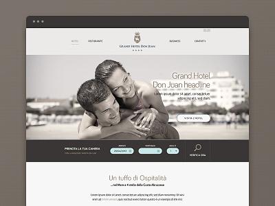 Hotel Don Juan flat design muse comunicazione website web design ui hotel website hotel flat design