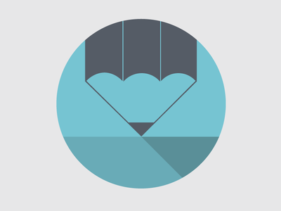 New Brand Design (iconography v.1)  pencil muse comunicazione shadow flat icons brand design