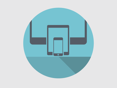 New Brand Design (iconography v.2) rwd responsive muse comunicazione shadow flat icons