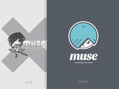 Muse — Logo Restyling brand design logo restyling muse comunicazione