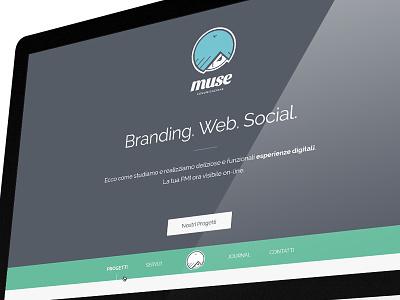 Muse — New Website muse comunicazione restyling website web design branding portfolio
