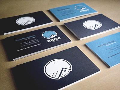 Muse — Business Cards design branding business cards cards logo logo design muse comunicazione print business card