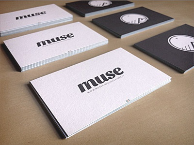 Muse — Business Cards Luxe by Moo v.1 business card print muse comunicazione logo design logo cards business cards branding design moo luxe