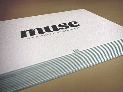 Muse — Business Cards Luxe by Moo v.2 luxe moo design branding business cards cards logo logo design muse comunicazione print business card