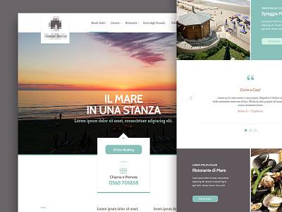 Sunset Hotel Branding design hotel muse comunicazione web design website branding flat flat design