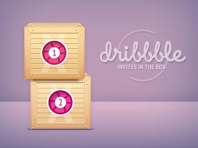Dribbble Giveaway 2(new) Invites draft box giveaway invitation invites dribbble muse comunicazione