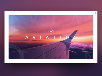 Minimalistic Website for the Aviation Industry typography ui design uidesign ui logo design purple gradient purple website design web design webdesign airline airplane flying aviation