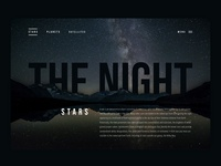 THE NIGHT - A start screen for a website