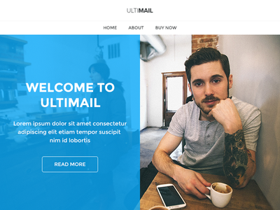 UltiMail - Multipurpose Email + Builder Access email newsletter clean flat psd web business website ui photoshop multipurpose design