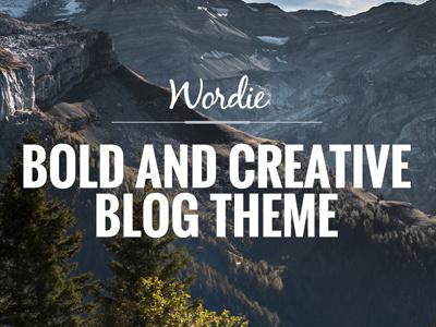 Wordie - Bold & Creative Blog Theme design development ui wordpress travel modern food fashion creative clean blogger blog