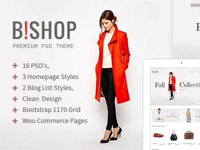 Bishop - WooCommerce Responsive WordPress Theme psd ui shop travel shortcodes options pannel modern mobile lifestyle fashion commerce blog