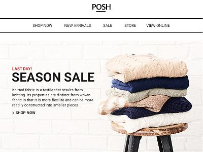 Posh - Commerce Multipurpose Email + Builder Access website web ui newsletter multipurpose flat fashion email ecommerce design clean business