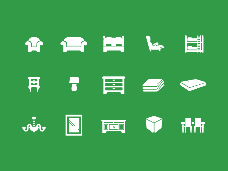 Wichita Furniture Icon System By Abby Storey Dribbble Dribbble