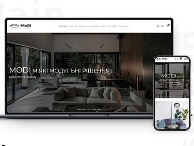 "E-commerce for ""Modi"" furniture website design website"