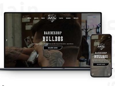 """Landing-page for Barbershop """"Bulldog"""" web design website design website"""