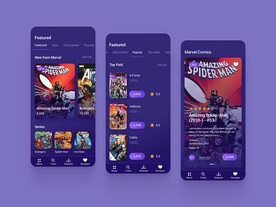 Mobile App concept app mobile app design mobile app mobile comics