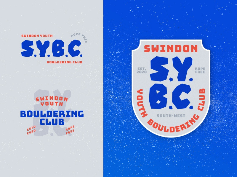 Bouldering Club identity typography club identity badge crest climbing boulder logo lettering design branding