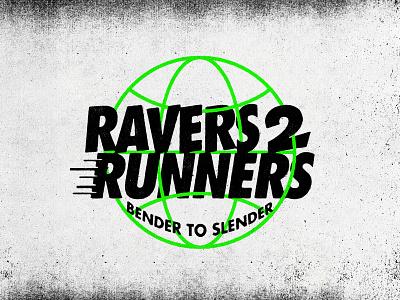 Ravers to Runners branding sports logo sports branding running club sports runner ravers running raving