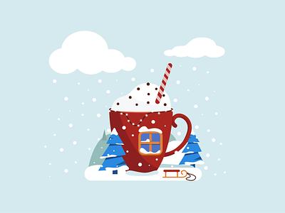 Winter is coming winter art design illustration