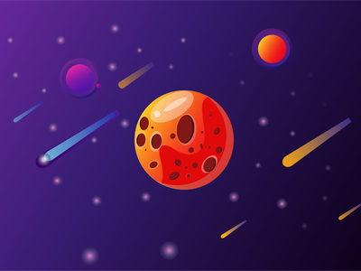 Space illustration art design
