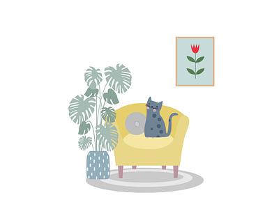 cat illustration design art