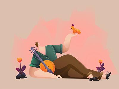 Rest rest illustration design art