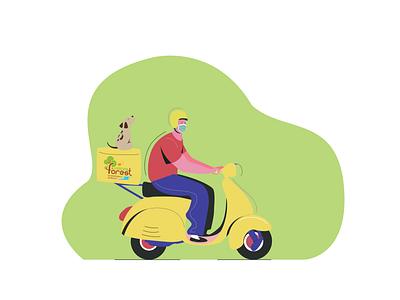Forest voices delivery delivery illustration design art