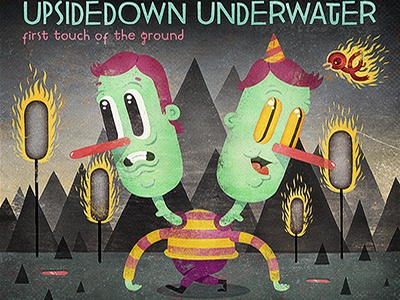 UpsideDown UnderWater: First Touch of The Ground cd illustration cover music texture