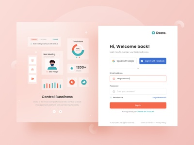 Dotra - User Registration task management sign in signup minimalism uiux
