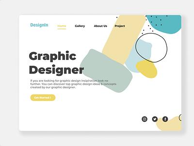 Design In Landing Page landingpage clean ui ux web ui design