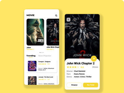 Movie App uidesign movie app app ui clean ui
