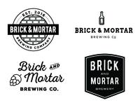 Brick and Mortar Brewery logo ideas