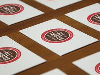 Pretzel branding cards pretzels business cards seal logo