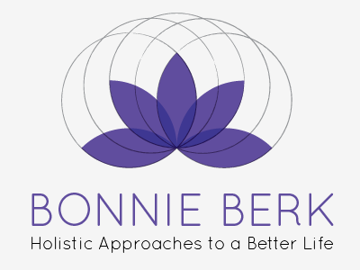 Logo yoga lotus flower circles purple